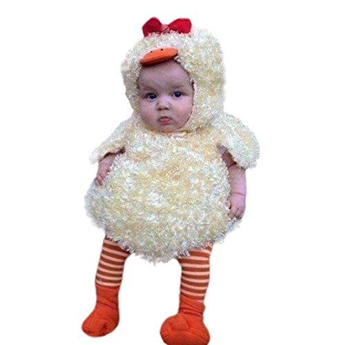 s Baby Jungen Mädchen Küken Kapuzenpulli Warme Weste Mantel Bluse Tops Kleidung Outfits (0-6 Monate, A-Yellow) (Mädchen Küken Kostüm)