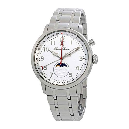 Lucien Piccard Complete Calendar White Dial Mens Watch 40016-22S
