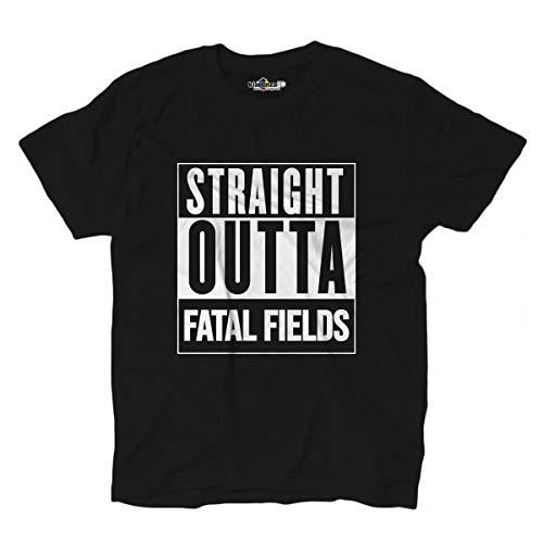 KiarenzaFD Videogame Battle Royale Nerd Victory Straight Outta Fatal Fields T-Shirt, KTSA02456-S-black, schwarz, S -
