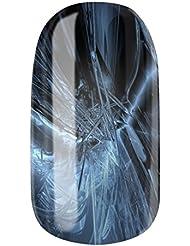 Nagelfolien/Blue Ice- selbstklebend mit individuellen Designs by Glamstripes- made in Germany. 12 Nail Wraps äußerst strapazierfähig mit langer Haltedauer