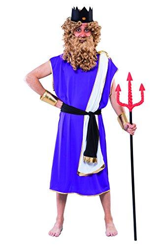 KOSTÜM - NEPTUN - Einheitsgröße 52/54 (Für Erwachsene Poseidon Kostüme)