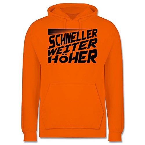 Sonstige Sportarten - Schneller, Höher, Weiter - Männer Premium  Kapuzenpullover / Hoodie Orange