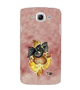 Fiobs Designer Back Case Cover for Samsung Galaxy Mega 6.3 I9200 :: Samsung Galaxy Mega 6.3 Sgh-I527 (Gold Ganapati Ganesh Ganesha )