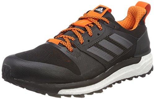 275bcf622 adidas Men's Supernova Trail M Competition Running Shoes, Black (Carbon  S18/Core Black/Orange), 9 UK