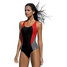 aed0b640ec1a97 LORIN Badeanzug fur Damen Endurance einteiliger Schwimmanzug Vorgeformte  BH-Cups