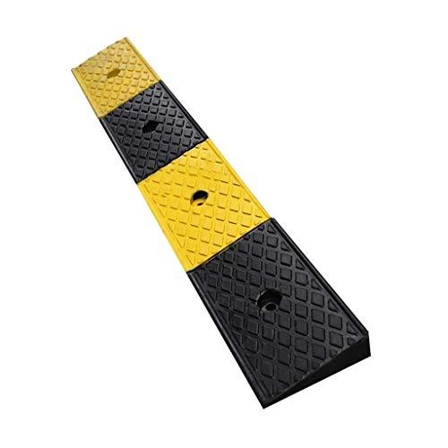 e Multifunktions Slope Pad, Rollstuhlrampen Gummi Tür Durable rutschfeste Auto Rampe Matte Gelb und Schwarz 98 * 15 * 5 cm ()