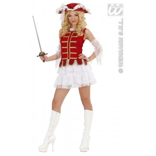 Französische Garde Kostüm - Widmann 89652 - Erwachsenenkostüm Sexy Musketier für Damen, Größe M