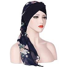 832432f424a Moonuy Bohême Femmes Musulman Stretch Turban Chapeau Chemo Cap Perte de  cheveux Écharpe Tête Wrap Hijab