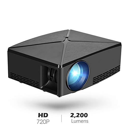 ZUEN Mini-Projektor 1280X720p Auflösung WiFi Proyector, LED-Beweglicher 3D-Beamer Für 4K Heimkino