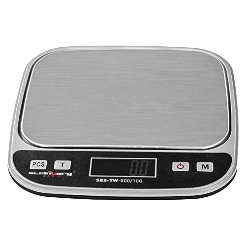 Steinberg BASIC - SBS-TW-500/10G - Bilancia da tavolo digitale - 500 g / 0,01 g - 13 x 10 cm