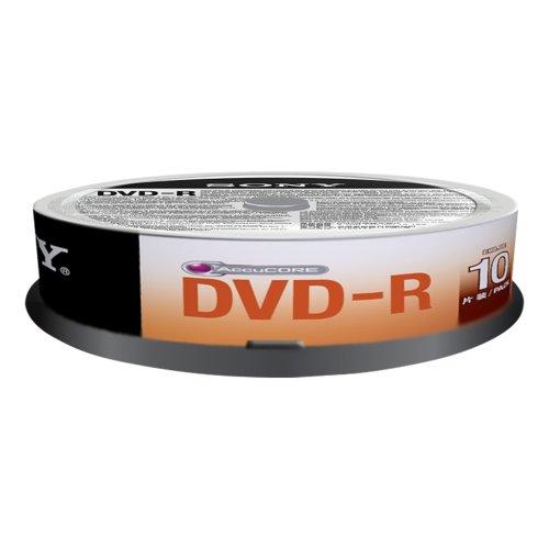 Sony 10dmr47sp dvd-r 4.7 gb, 16x, 10 pezzi, multicolore
