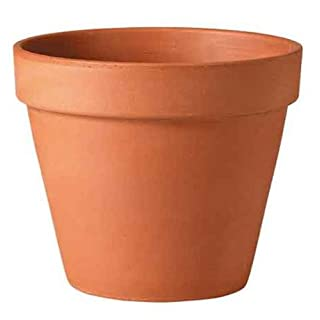 Testrut Plant Pot Round Terracotta, European Manufacture, Diameter Approx. 35 cm, Height Approximately 29.5 cm, red