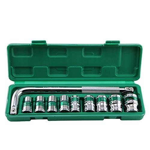 EDFDJED 10 stücke 1/2 Sockel Set 10-24mm Combination Drive Sockel Mit L-typ Schraubenschlüssel Für Auto Repair Tools Kit -