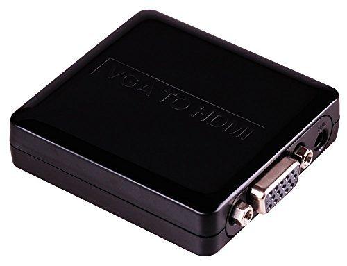 Tbridge Full HD 1080P HDMI to VGA Video 3.5mm Audio Converter for PC Laptop NoteBook DVD to HDTV Plug Play Mounting Ear Supply VGA+AUDIO to HDMI