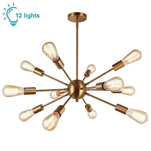 Senza Lampadina Oyi Sputnik Lampadario Vintage Lampada A Sospensione In Metallo Con 12 Prese Di Luce