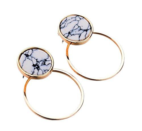 Emorias 1Pair Ohrringe aus Silber modern rund geometrisch hängen die Ohrringe am Haken des Tropfen viele Achsen der Frauen Ohrringe für Schmuck Accessoires -