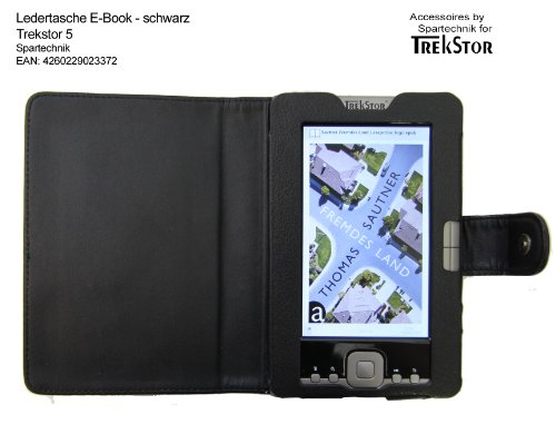 Tasche für Trekstor 5 & Trekstor 5M E-Book Reader - bestes Case für TrekStor e-book Reader 5 M Movie mit Öffnung für Lautsprecher - Elektronisches Buch Farbe - schwarz