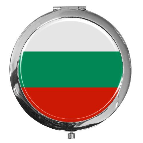 Miroir de poche / Drapeau la Bulgarie / Double agrandissement