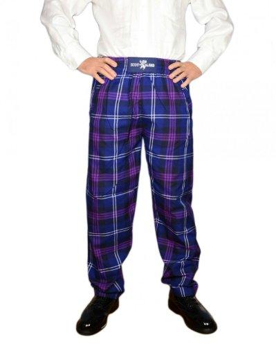 TARTAN TWEEDS -  Pantaloni  - Uomo viola medium