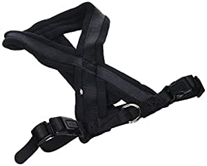 Trixie Premium Harness with Fleece Padding, M, 45-70 cm x 25 mm, Black