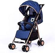عربة اطفال قابلة للطي، ازرق/ اسود