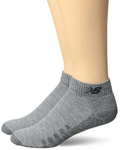 New Balance Technical Elite Coolmax Low Cut Socken, 2er-Pack, Unisex-Erwachsene, grau, Women's 4-5.5 - Low Cut-2 Pack-socken