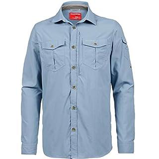 Craghoppers CR165 NosiLife Adventure Herren langärmeliges Hemd, fogle light blue 39R, L