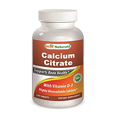 Calcium Citrate with Vitamin D-3 120 Tablets by Best Naturals