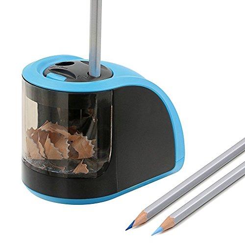 Bleistiftspitzer Elektrisch, Batterie / Strom betrieben 2 verschieden große Löcher Elektrische Anspitzer - Blau