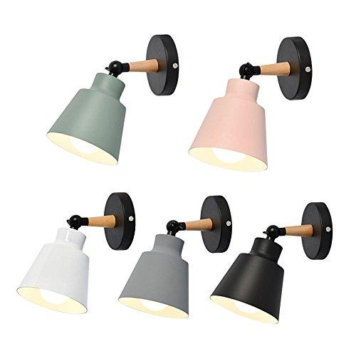 Industrie Retro Wandlampe Antik Wandleuchte Vintage Metall Wandlampe für Dachboden,Terrasse,Restaurant,Café Schlafzimmer,Küche Wandlampe Wandlampe (98A5),grün SjyLights (Rustikale Kerze Wandlampen)