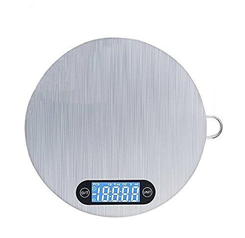 Küchenwaage,Digital Food Scale Edelstahl mit 5 KG Accurate Gram LCD Display und Aufhänger für einfache Aufbewahrung