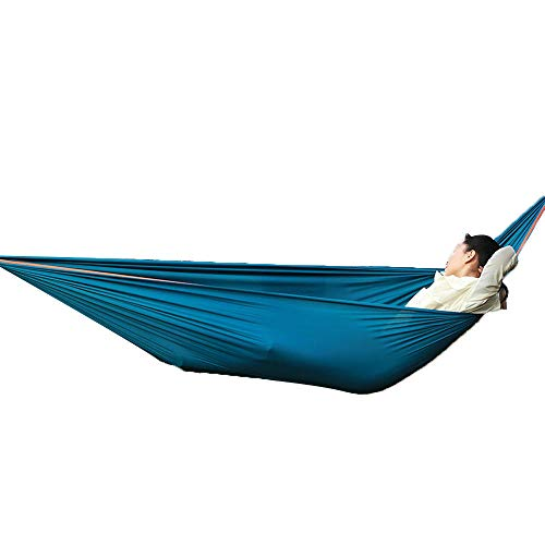 Swing Outdoor Hammock, 260 * 150cm, Double Leisure Camping Hammock Portable Compressible - Blue_260*150 - Single Rope Swing