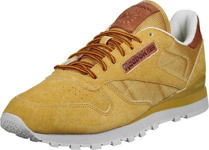 Reebok CL eather OL Schuhe Gelb (golden wheat/steel/gold)