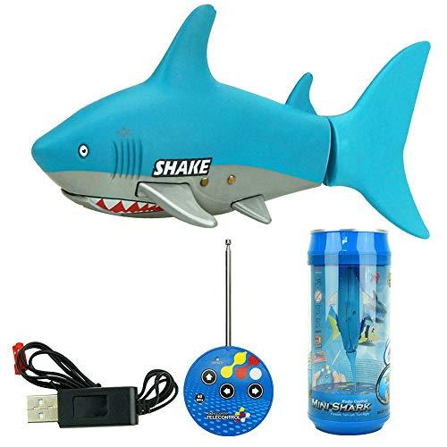 Ledu Mini Fernbedienung Fisch, elektrische Spielzeug Fernbedienung Schwimmen hai Wasser Spiel Spielzeug Boot Kinder, lightblue