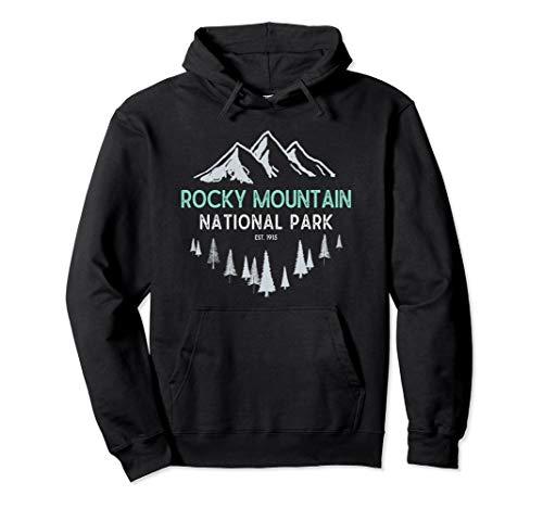 Rocky Mountain Vintage National Park Colorado Souvenir Pullover Hoodie -