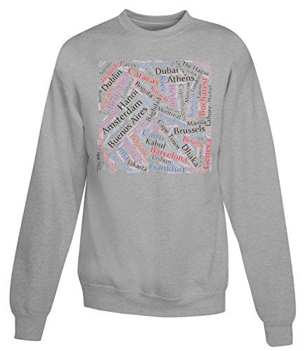 Billion Group | Capital Cities Cloud | City Collection | Women's Unisex Sweatshirt Gris