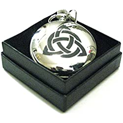 A Unique Engraved Design Celtic Interlace Pocket Watch Made in Scotland by Art Pewter