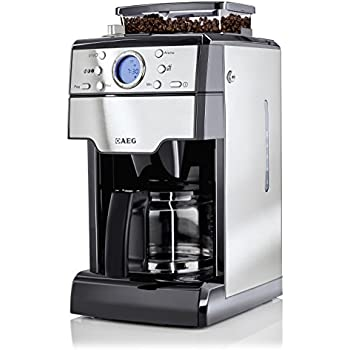 AEG KAM300 Kaffeemaschine (1000 Watt, mit integriertem Mahlwerk) edelstahl