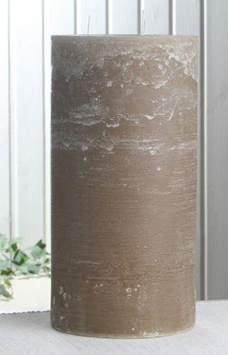 Rustik-Dreidochtkerze, 30 x 15 cm Ø, sand