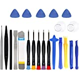 Corslet Plastic and Steel 22 Pieces Mobile Repairing Tool Kit Phone Screen Case Opening Disassembly Screwdriver Set for Home