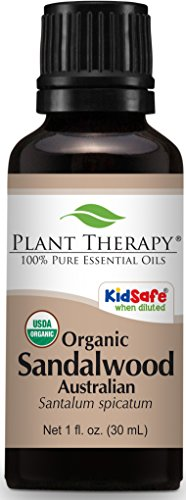Plant Therapy Sandalwood Australian Organic Essential Oil 30 mL (1 oz) 100% Pure, Undiluted, Therapeutic Grade