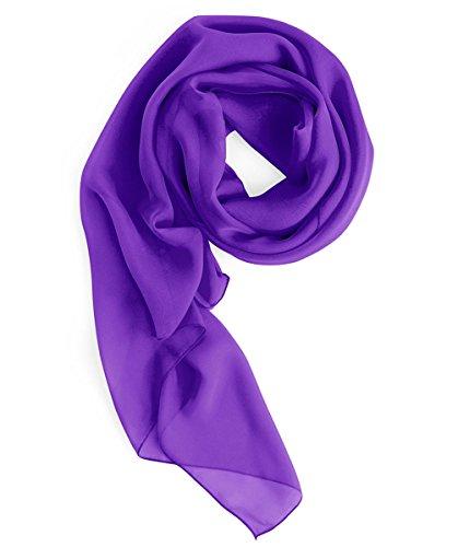 HomRain Damen Chiffon Stola Schal für Hochzeitskleider Abendkleider Alltagskleidung Purple L Chiffon Full Slip