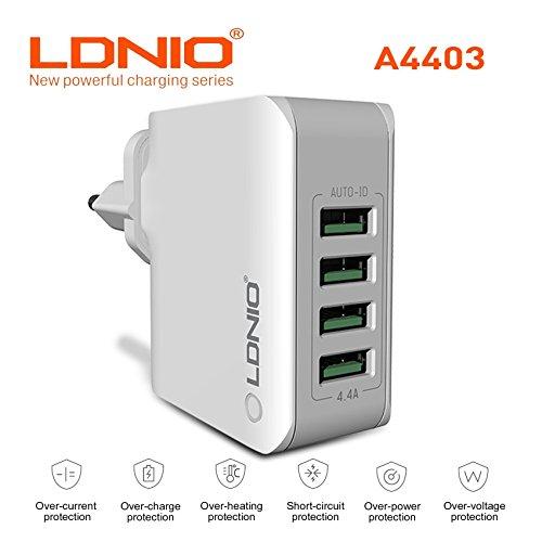 Rapid 4USB Port auto- Innendurchmesser kompatibel Handy/Tablet/pulverbeschichtete/Home/Reise Ladegerät passen/EU/USA-Netz Adapter geliefert. (Ac Wand Home-adapter Auto)