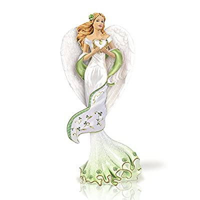 The Bradford Exchange 'Angel of Ireland' - Angel Figurine - Hand Cast Artisan's Resin with Handpainted Details