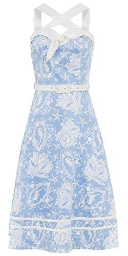 Voodoo Vixen Kleid ANNETTE DRESS 8155 Blau XL