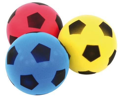 Betzold - Softbälle-Set 3 Stück - Kinder-Schaumstoffball Softball für Kinder unbeschichtet draußen