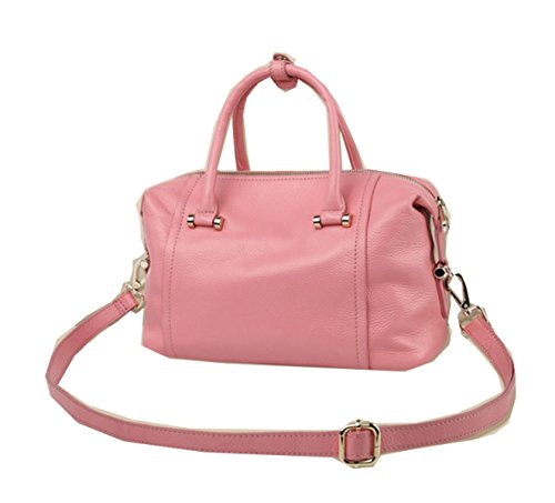 PACK Borse In Pelle Boston Portafoglio Messenger Borsa Moda Europa E Stati Uniti Vento,B:Pink B:Pink