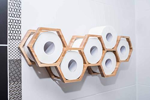 Holz Toilettenpapierhalter Toilettenpapierablage Holzhalter für Toilettenpapier Wabenwaben