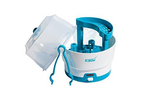 U-grow Sterilisator für Babyflaschen - Vaporisator Dampfsterilisator für bis zu 6 Babyflaschen, Sauger und Zubehör