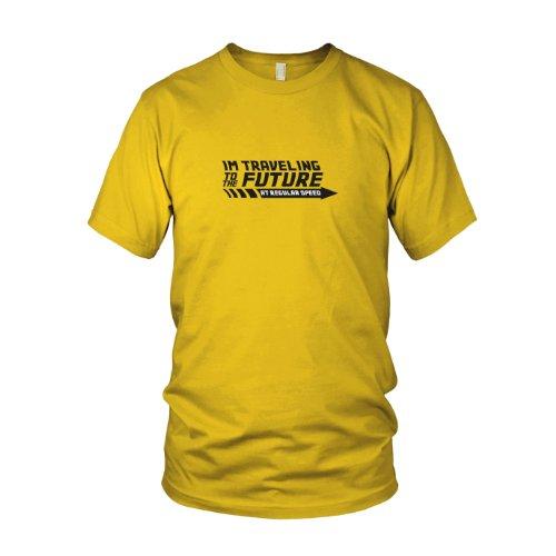 - Herren T-Shirt, Größe: M, Farbe: gelb (Zurück In Die Zukunft Kostüm Marty)